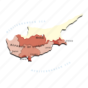 countries, country, cyprus, europa, europe, map, maps icon