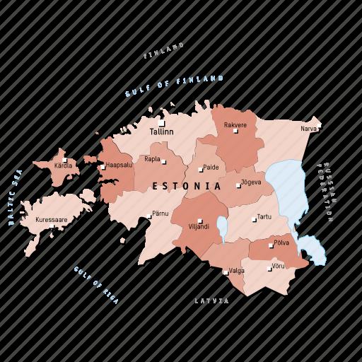 countries, country, estonia, europa, europe, map, maps icon