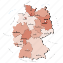 countries, country, europa, europe, germany, map, maps icon