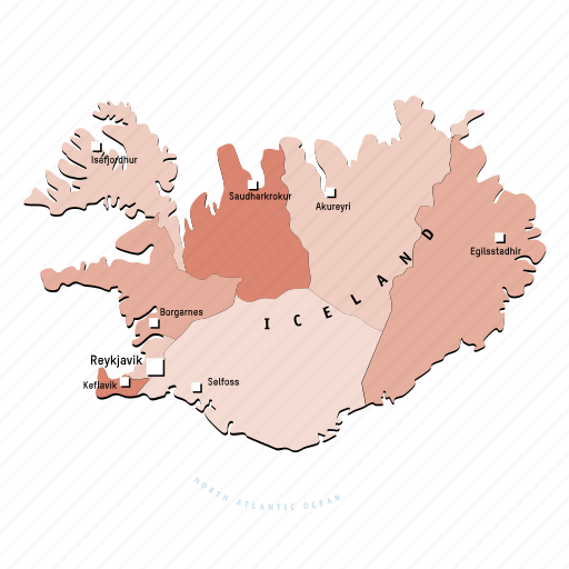 countries, country, europa, europe, iceland, map, maps icon