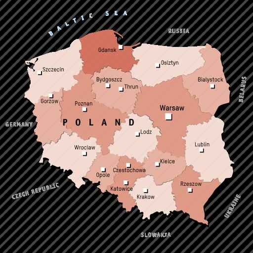 countries, country, europa, europe, map, maps, poland icon
