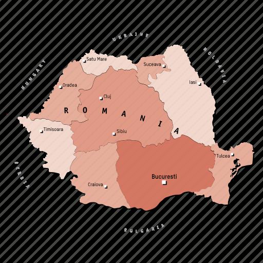 countries, country, europa, europe, map, maps, romania icon