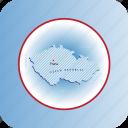 country, czech republic, europa, europe, map, maps icon