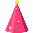 birthday, celebration, christmas, cone hat, hat, holiday, party icon