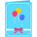 birthday, card, celebration, christmas, gift, invitation, party icon