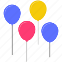 balloon, birthday, celebration, festival, holiday, party, present icon