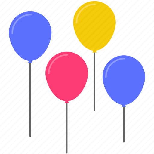 balloon, birthday, celebration, festival, holiday, party, present icon