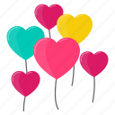 balloon, heart, love, marriage, romance, valentine, wedding icon