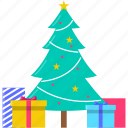 celebration, christmas, gift, holiday, present, tree, xmas icon