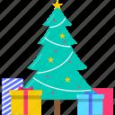 celebration, christmas, gift, holiday, present, tree, xmas icon