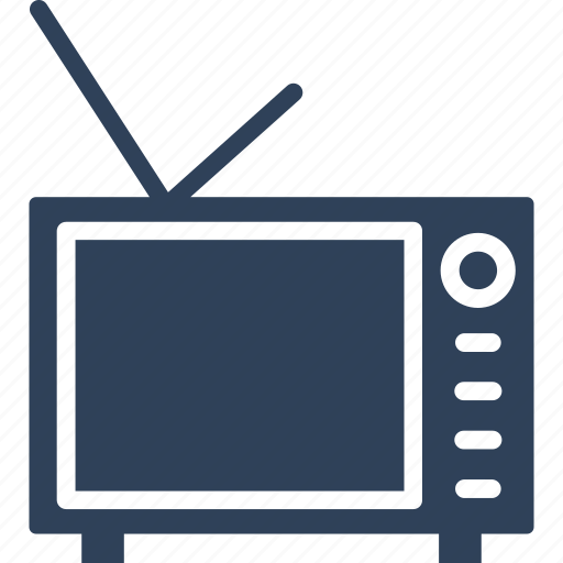 electronics, retro tv, tv, tv set icon
