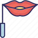 carnival mask, costume mask, lips cover, lips mask icon
