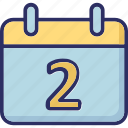 calendar, date, day, daybook icon