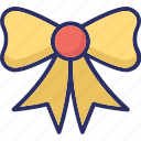 bow, bow twine, bowtie, hair bow icon