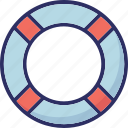 life belt, life buoy, life ring, ring buoy icon