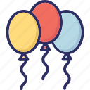 balloons, birthday balloons, decoration balloons, party balloon icon