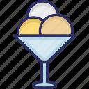 dessert, frozen dessert, ice cream, ice cream cup icon
