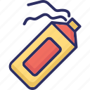 aerosol string, party decorations, party spray, silly string icon