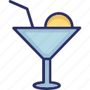appetizer drink, beach drink, cocktail, drink icon