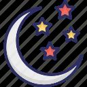 christmas night, moon, night, sky icon