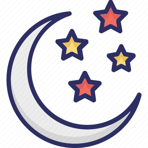 christmas night, moon, night, sky icon