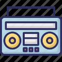 boombox, cassette player, cassette recorder, radio stereo icon