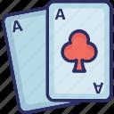 gambling, playing card, poker card, spade card icon