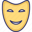 carnival mask, costume mask, face mask, party mask icon
