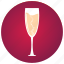 alcohol, celebration, champagne, fun, party, toast, wine glass icon