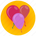 balloon, birthday, celebration, children, decoration, joy, party icon