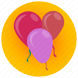 balloon, birthday, celebration, children, decoration, joy, party icon