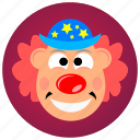 circus, clown, costume, disguise, funny, joy, smile icon