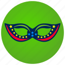 carnival, costume, eyes, glasses, headband, look, mask icon