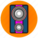 creative, fun, jukebox, membrane, music, party, speaker icon