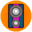 creative, fun, jukebox, membrane, music, party, speaker icon