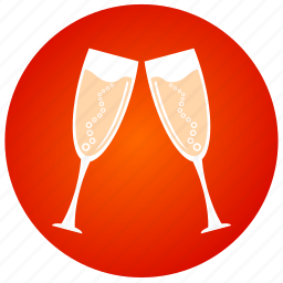 champagne, dinner, drink, party, toast, wine, wine glasses icon