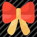 bow, christmas bow, bowtie, ribbon bow, hair bow icon