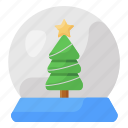 christmas, globe, crystal ball, christmas globe, decorative globe, glass ball, snow christmas globe icon