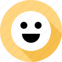 emoji, face, happy icon
