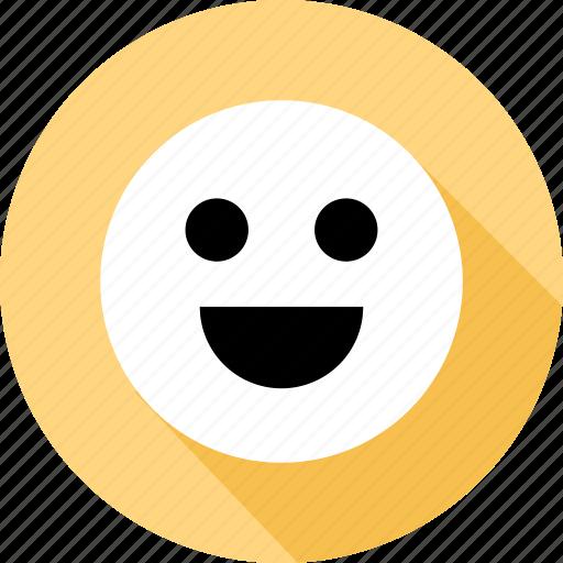 emoji, face, happy icon