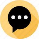 bubble, talk, text icon