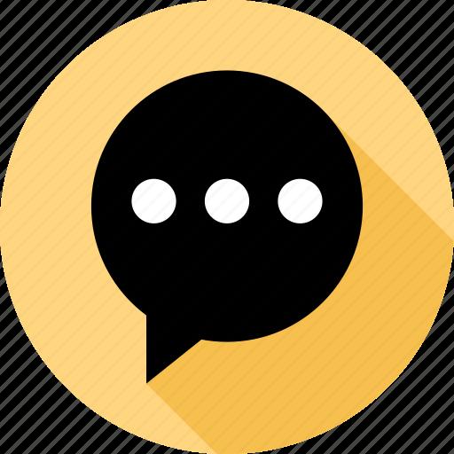 bubble, talk, text icon