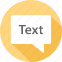 communication, messaging, text icon