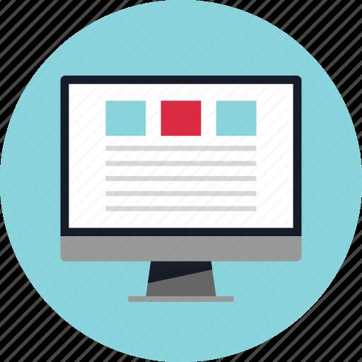 blog, internet, layout, website icon
