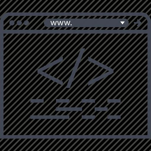 code, line, lines icon
