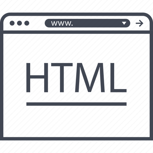 end, front, html, internet icon
