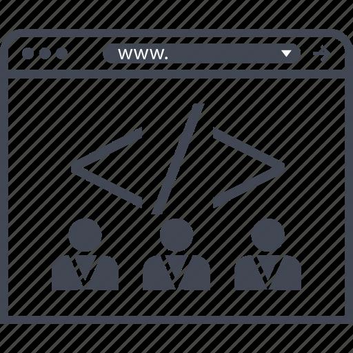 group, internet, team icon