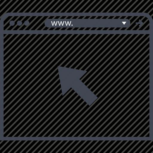 click, internet, visit icon