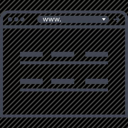 internet, website, wireframes icon