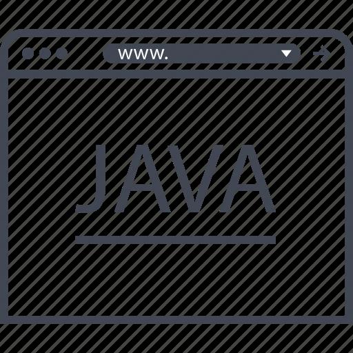 internet, java, program icon